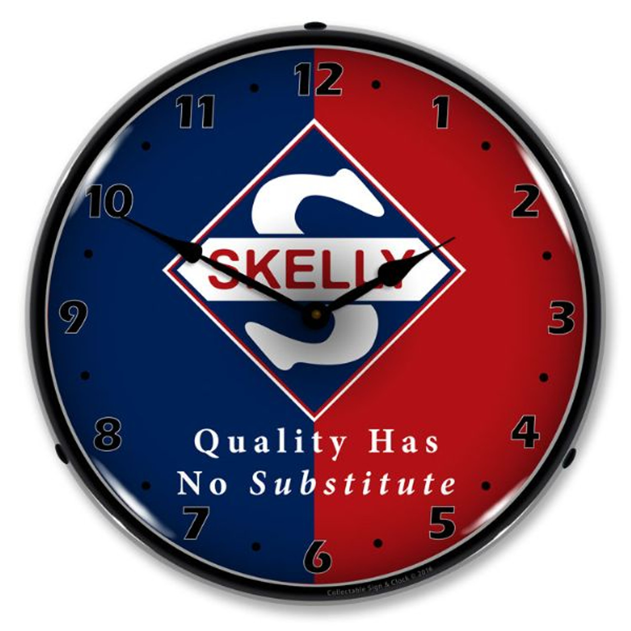 Skelly 2 Lighted Wall Clock 14 x 14 Inches