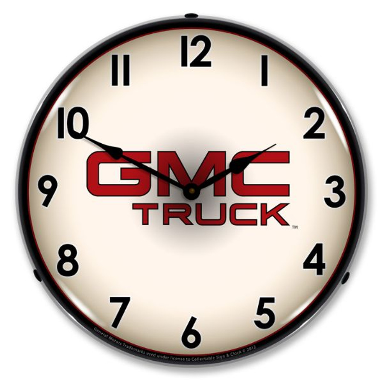 GMC Truck Lighted Wall Clock 14 x 14 Inches