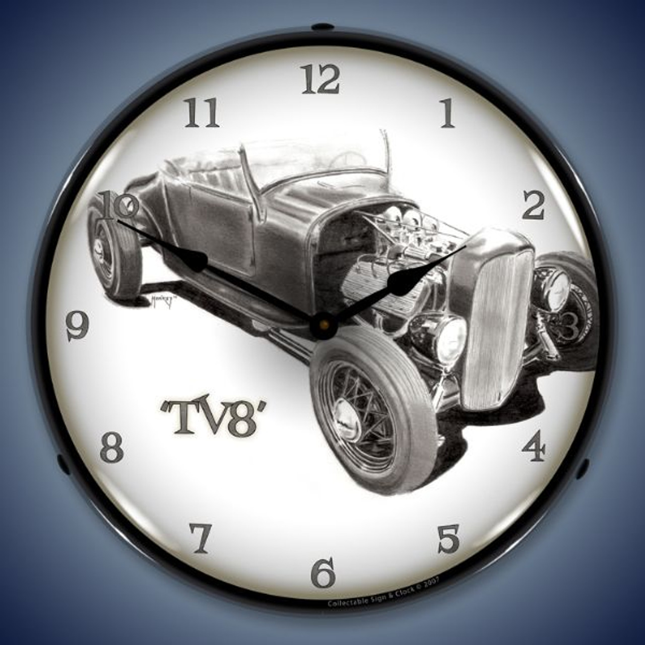 TV8 Lighted Wall Clock 14 x 14 Inches
