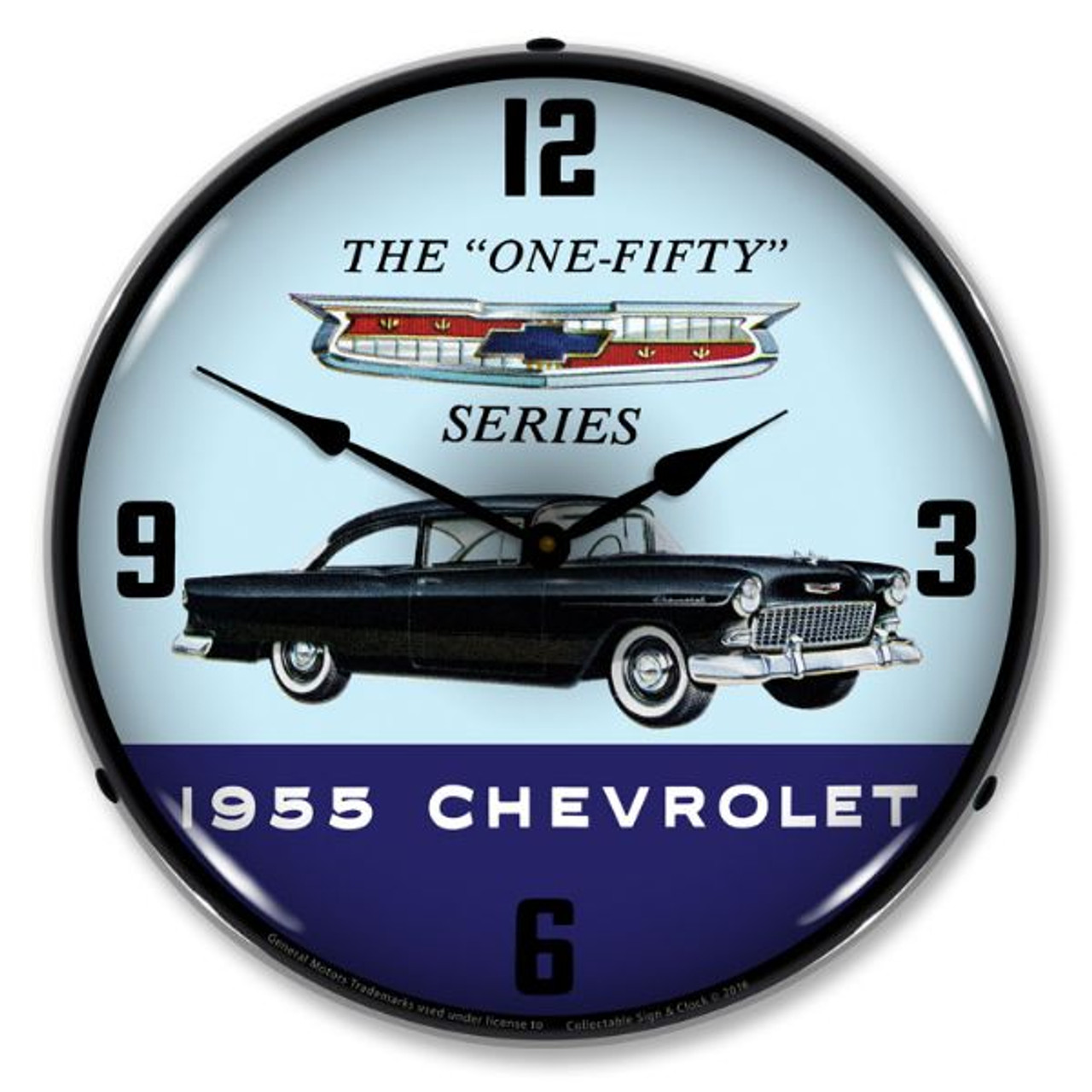 1955 Chevrolet One Fifty Lighted Wall Clock 14 x 14 Inches