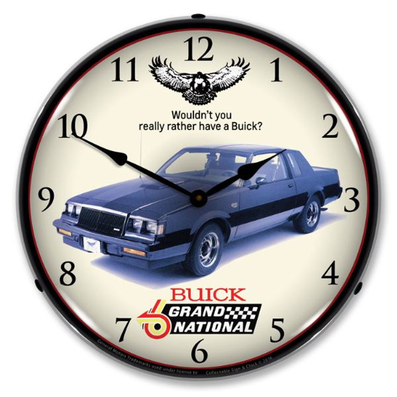 1987 Buick Grand National Lighted Wall Clock 14 x 14 Inches