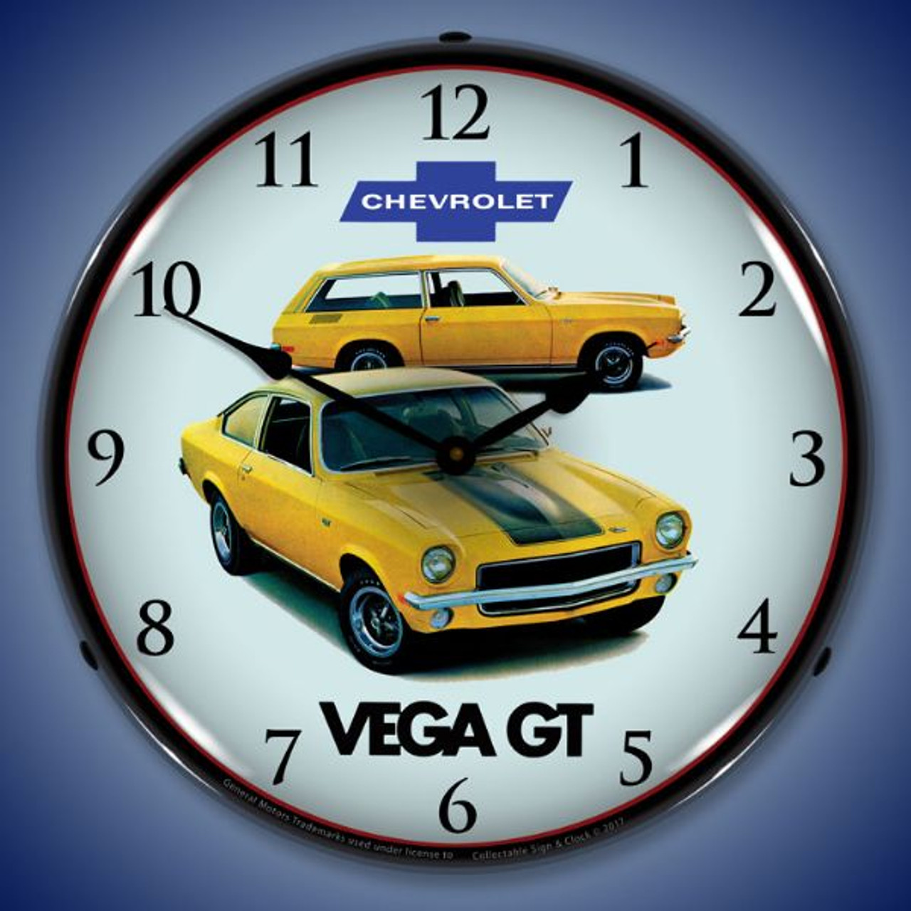 1971 Vega GT Lighted Wall Clock 14 x 14 Inches