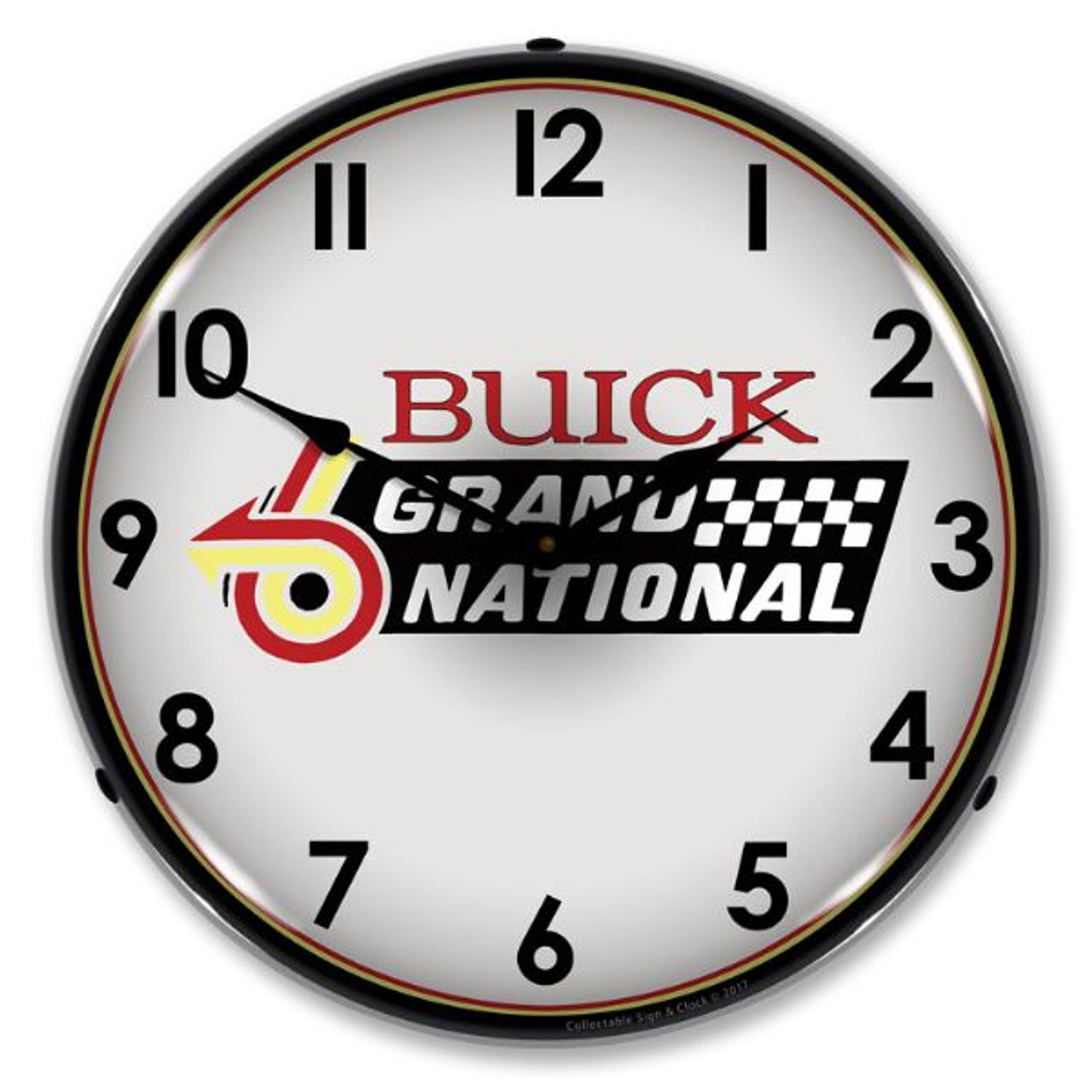 Buick Grand National Logo Lighted Wall Clock 14 x 14 Inches