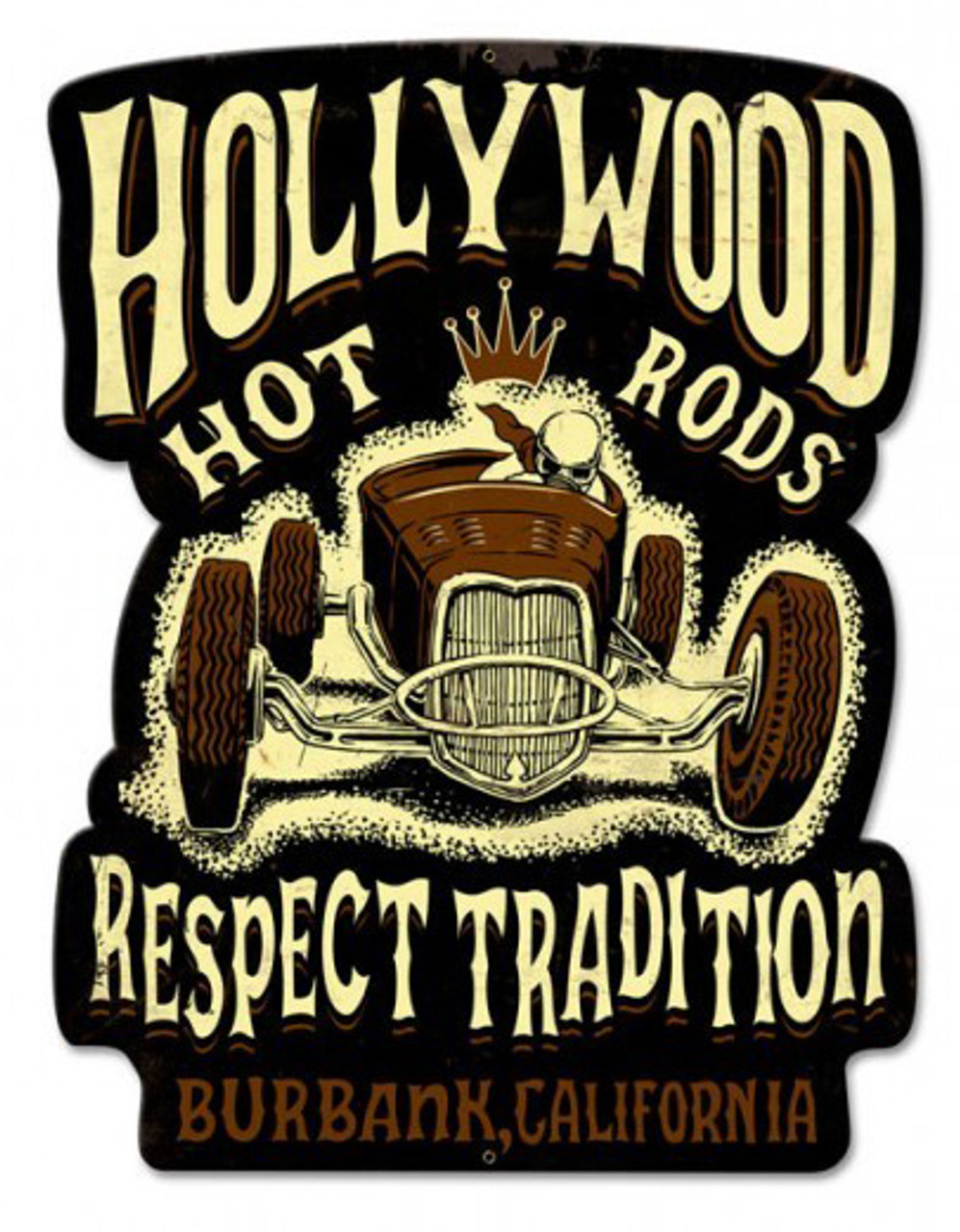 Roadster Respect Metal Sign 24 x 36 Inches