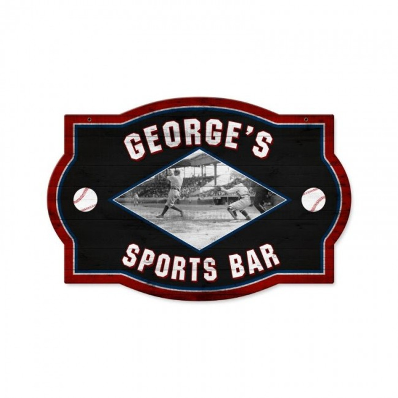 Dirty Dugout Tavern Metal Sign - Personalized 18 x 12 Inches