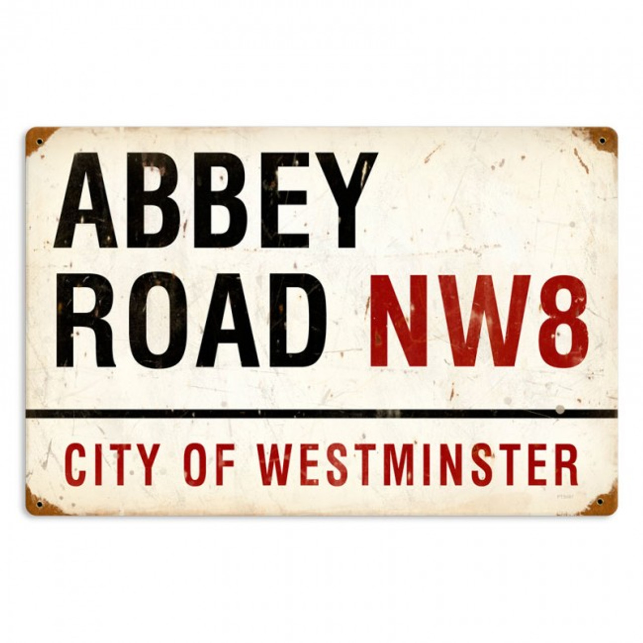 Abbey Road Metal Sign  18 x 12 Inches