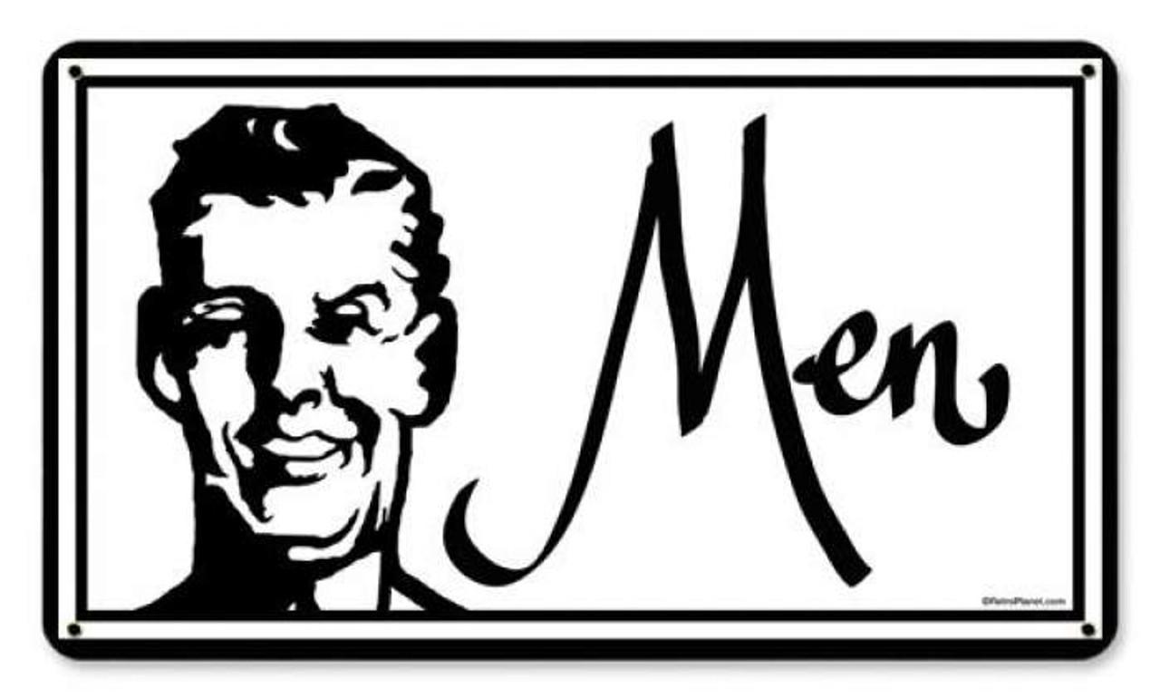 Vintage Men Metal Sign 8 x 14 Inches