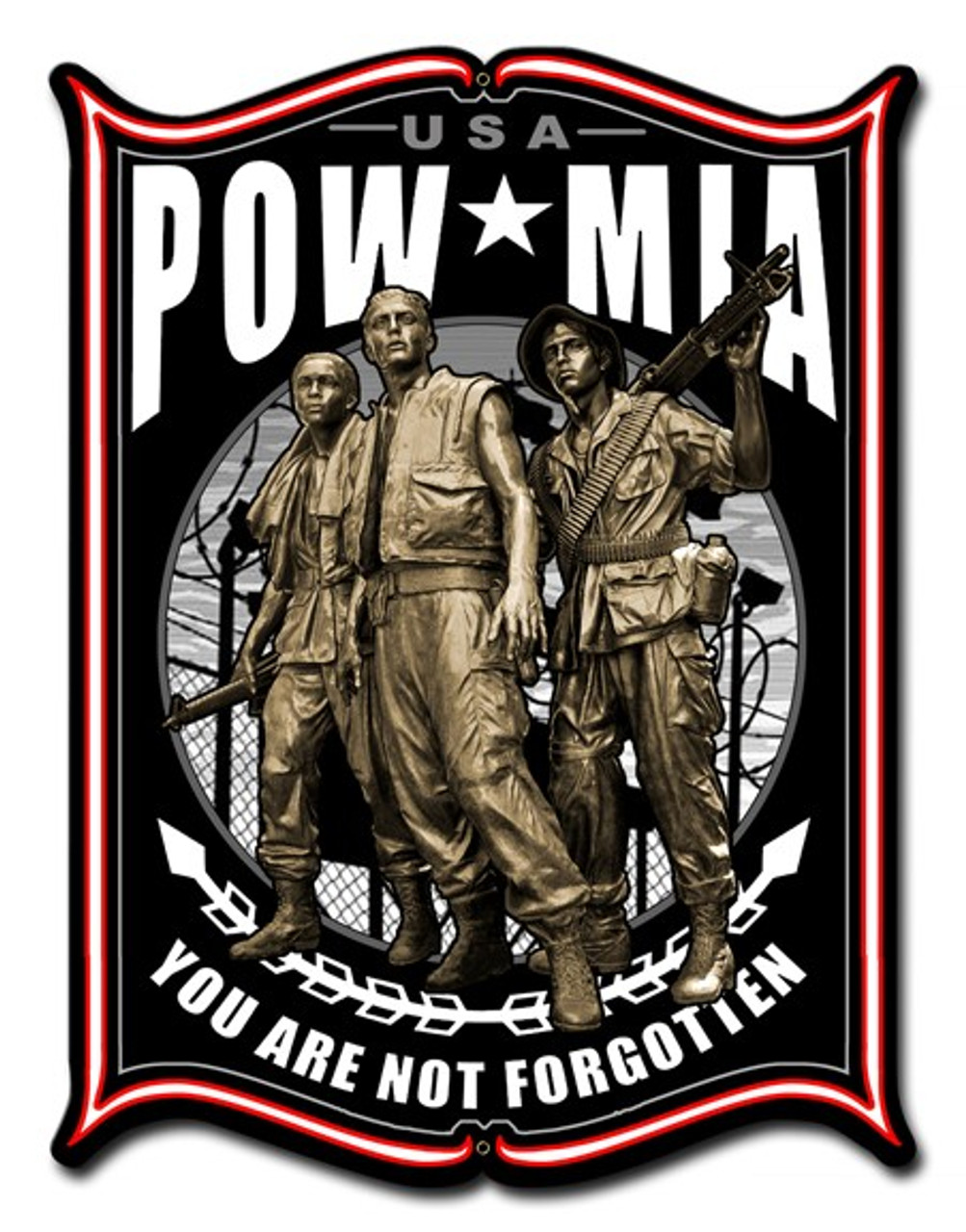 POW Metal Sign 14 x 19 Inches