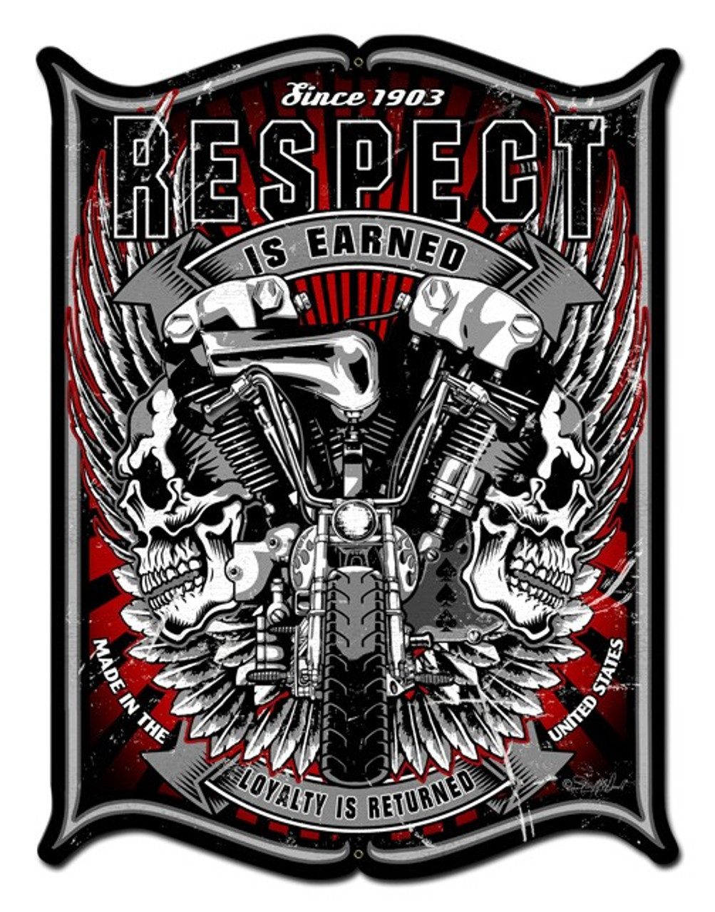 Respect Metal Sign 24 x 33 Inches