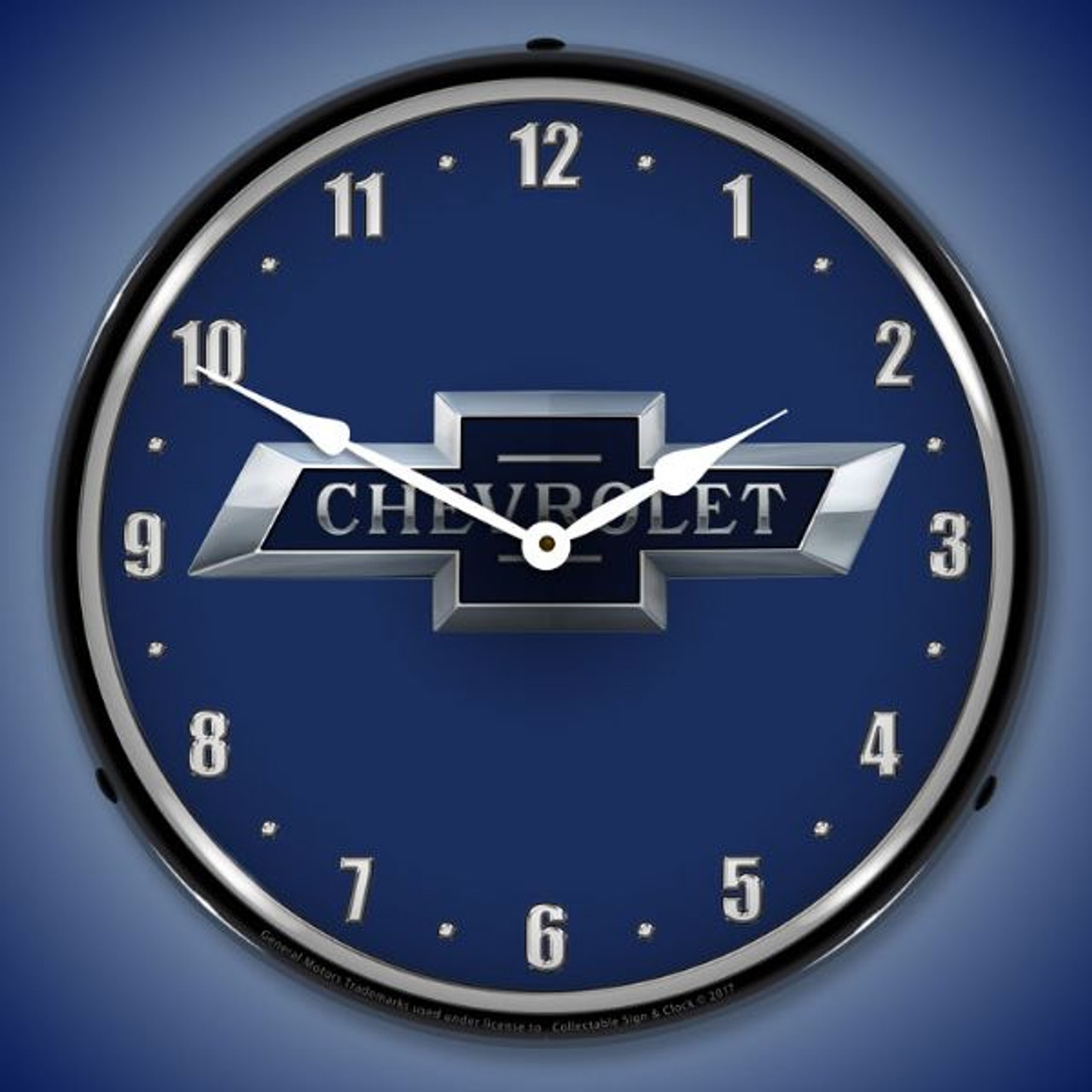 Chevrolet Bowtie 100th Anniversary Lighted Wall Clock 14 x 14 Inches