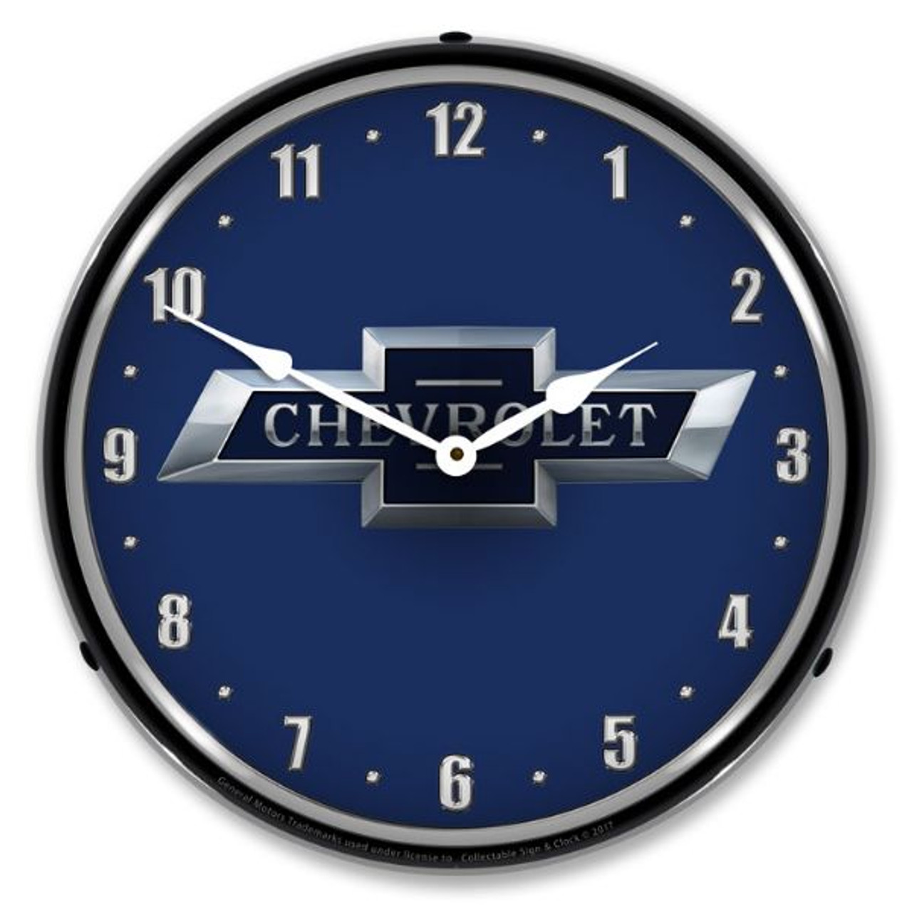 Chevrolet Bow tie 100th Anniversary Lighted Wall Clock 14 x 14 Inches