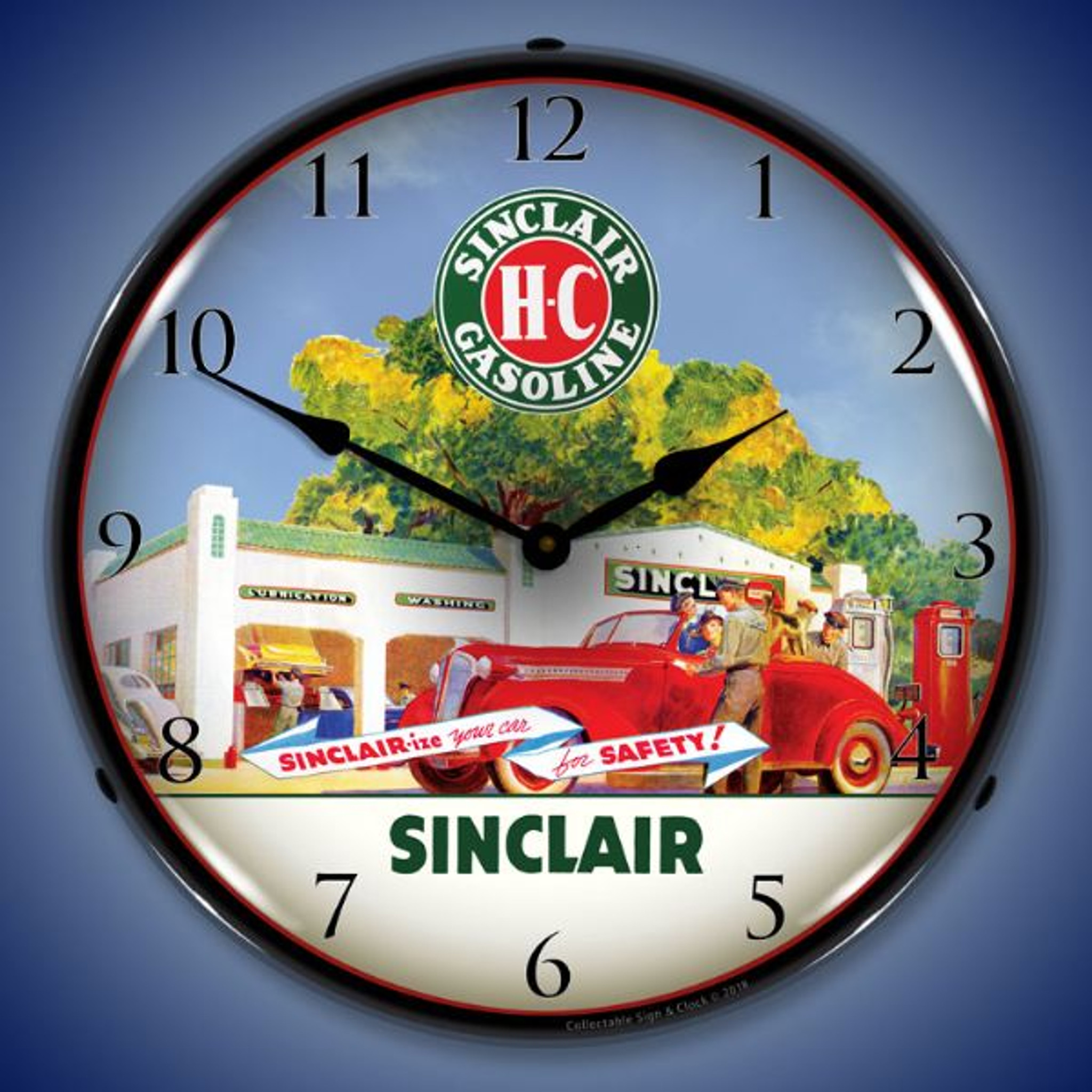 Sinclair Station LED Lighted Wall Clock 14 x 14 Inches