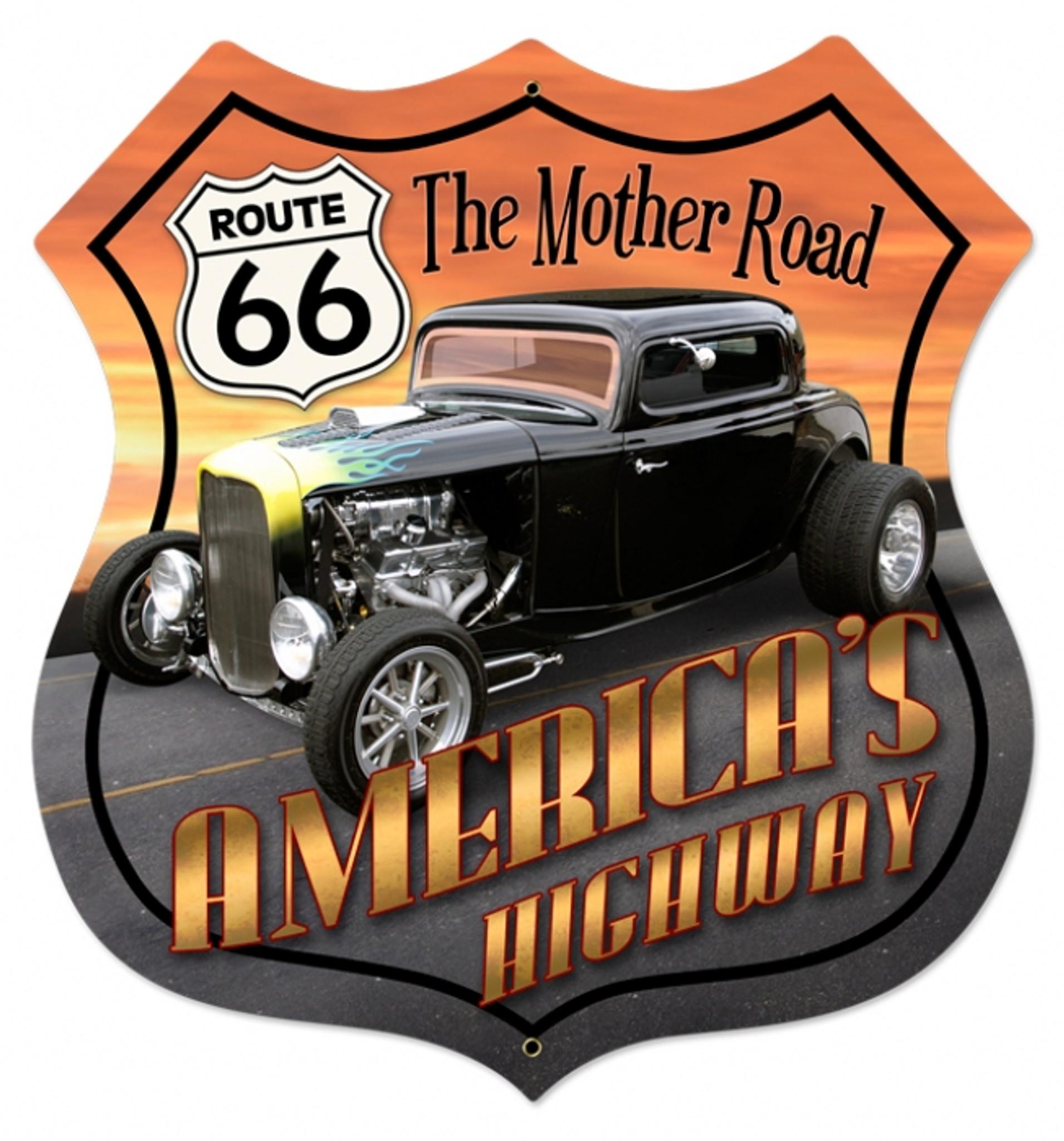 Ruta 66 Cruise America Letrero De Metal ga