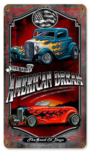 American Dream Metal Sign 8 x 14 Inches