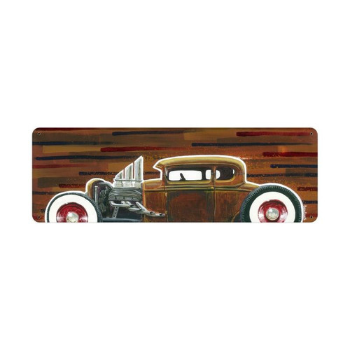32 Hotrod Coupe Metal Sign 24 x 8 Inches
