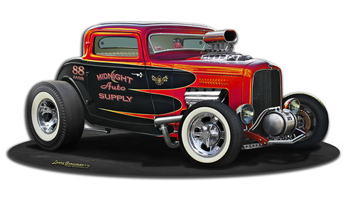 1932 Blown Street  Rod Metal Sign 17 x 8 Inches