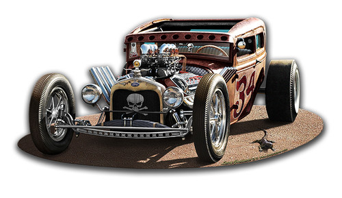 1930 Rat Rod Metal Sign 17 x 8 Inches