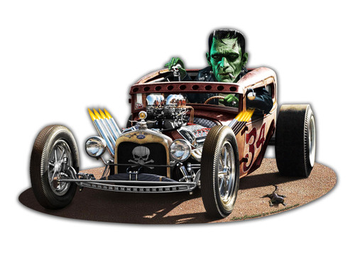 Frankies Rat Rod Metal Sign 14 x 8 Inches