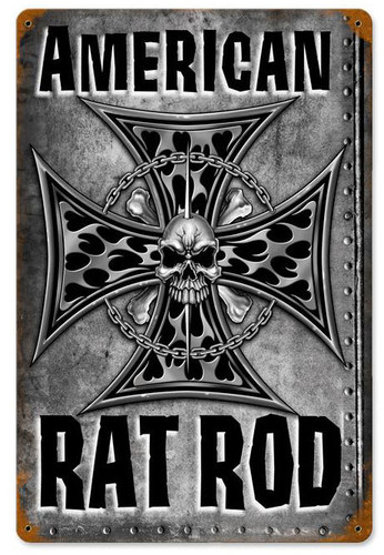 American Rat Rod Metal Sign 12 x 18 Inches