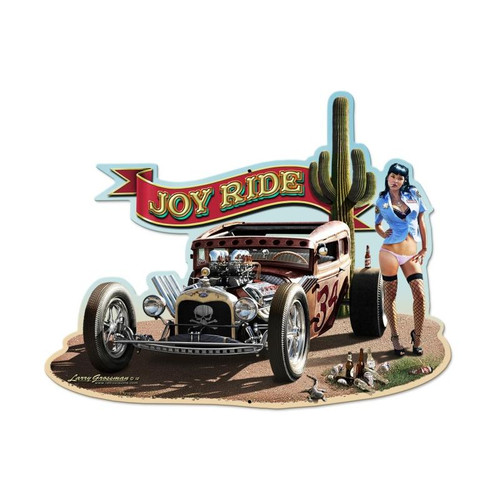 Rat Rod Metal Sign 28 x 21 Inches