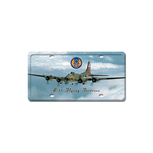 B-17 Flying Fortress License Plate 12 x 6 Inches