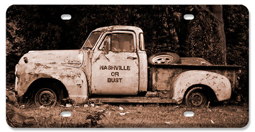 Nashville License Plate 12 x 6 Inches