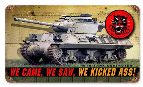 M10 Tank Metal Sign 14 x 8 Inches