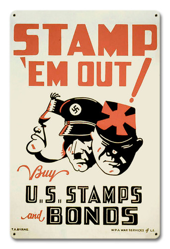 Stamp em Out Metal Sign 18 x 12 Inches