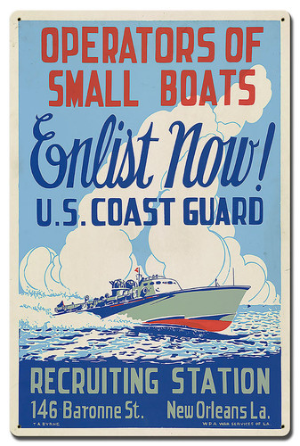 Recruiting Station Operations Small Boats Metal Sign 16 x 24 Inches