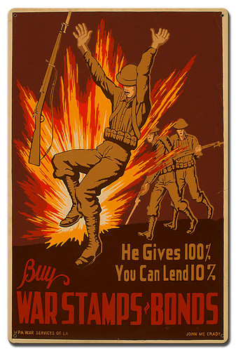 Buy War Stamps Bonds Metal Sign 24 x 16 Inches
