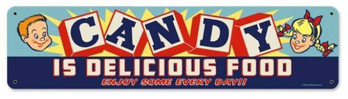 Retro Candy Metal Sign  20 x 5 Inches