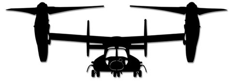 V22 Osprey Metal Sign 48 x 16 Inches