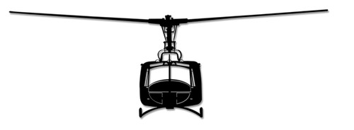 Uh-1 Huey Metal Sign 46 x 15 Inches
