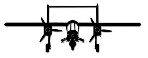 Ov-10 Bronco Metal Sign 47 x 16 Inches