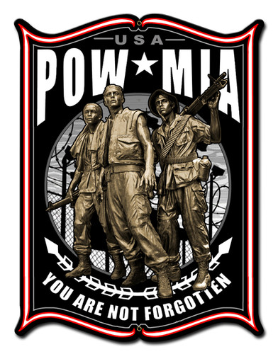 Pow Metal Sign 18 x 24 Inches