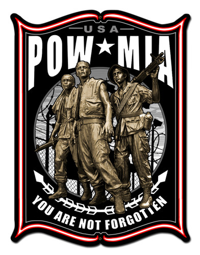 Pow Metal Sign 24 x 33 Inches
