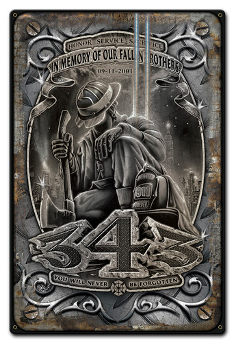 Fallen Brothers Metal Sign 12 x 18 Inches