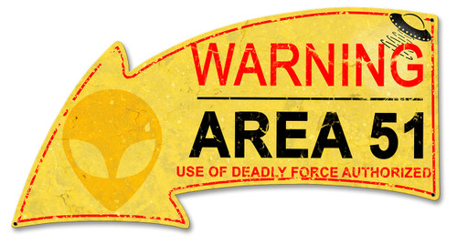 Area 51 Area Metal Sign 21 x 11 Inches