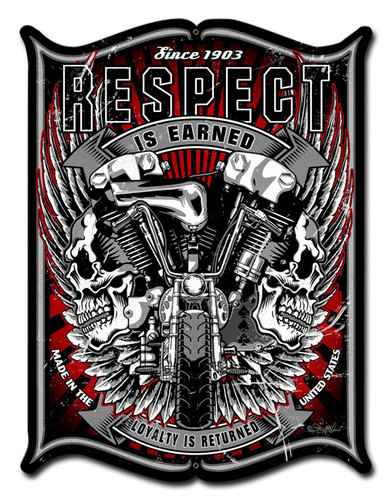 Respect Metal Sign 14 x 19 Inches