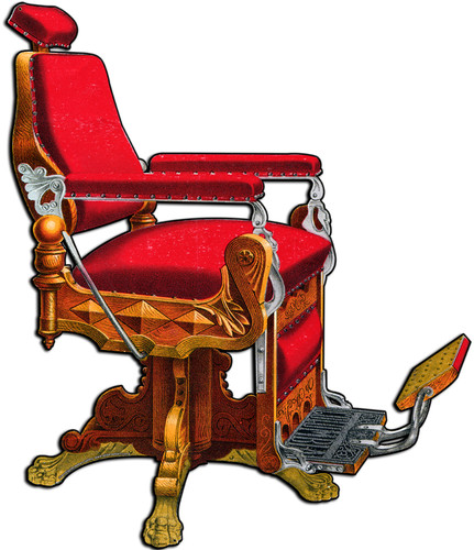 Kochs Barber Chair Metal Sign 16 x 20 Inches