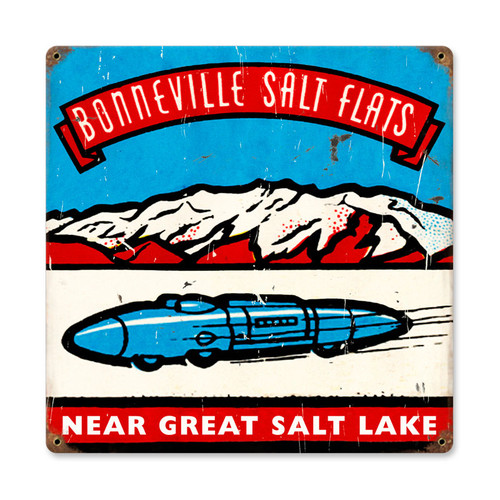Salt Flats Metal Sign 12 x 12 Inches