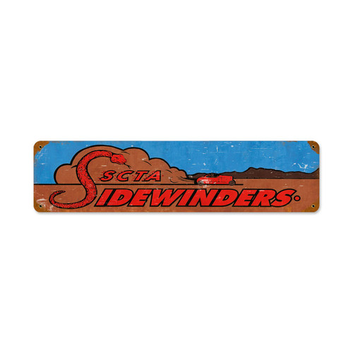 Sidewinders Metal Sign 20 x 5 Inches