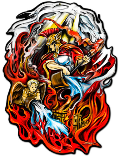 St Florian Metal Sign 12 x 15 Inches