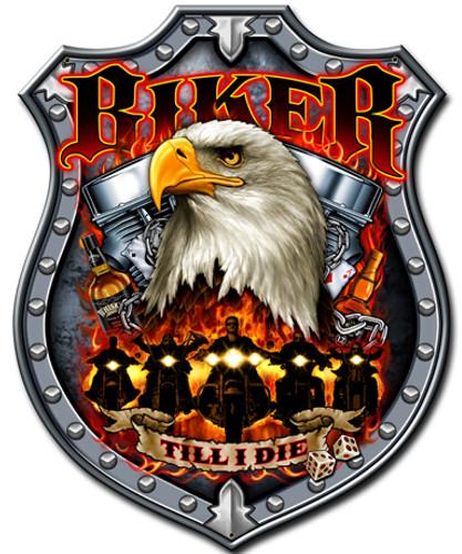 Biker Till I Die Metal Sign 14 x 18 Inches