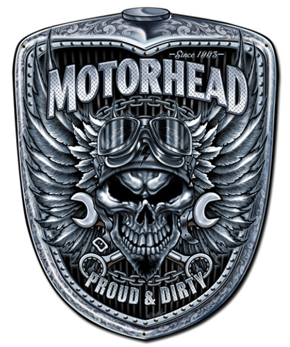 Motorhead Grill Metal Sign 24 x 30 Inches