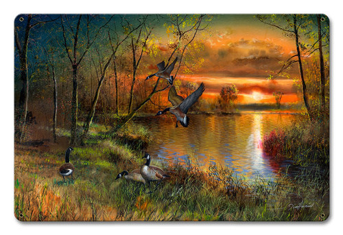 Evening Refuge Metal Sign 16 x 12 Inches