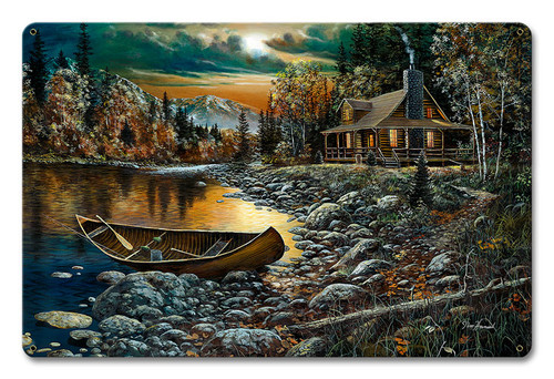 High Country Retreat Metal Sign 18 x 12 Inches