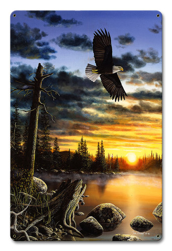 Eagle Kings Domain Metal Sign 12 x 18 Inches