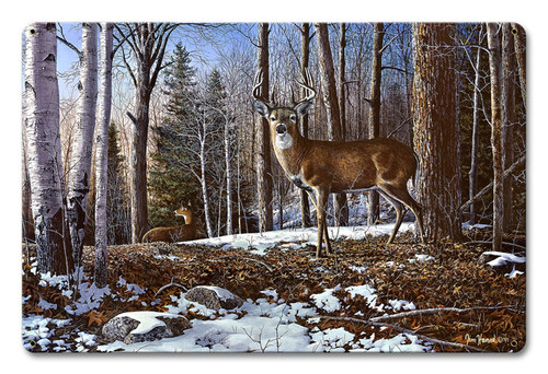 North Ridge Whitetails Metal Sign 12 x 18 Inches