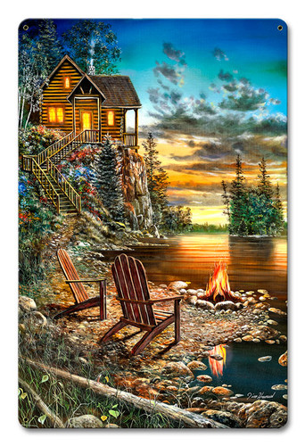 Summer Pleasures Metal Sign 12 x 18 Inches